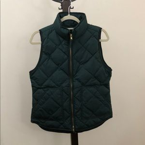 J crew forest puffer vest size small